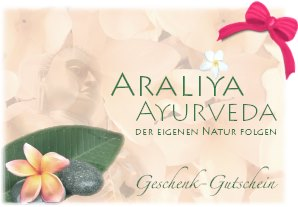 ayurveda geschenk gutscheine von araliya ayurveda berlin. Black Bedroom Furniture Sets. Home Design Ideas